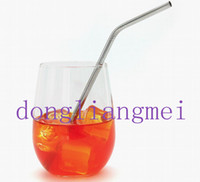 Wholesale 600pc Metal Drinking Straw Stainless Steel Bend Drinking Straw Beer and Fruit Juice Straws freeshipping Z67