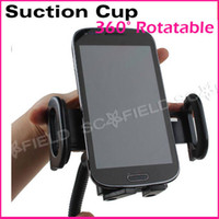 For Samsung   360 Degree Rotatable Suction Cup Swivel Mount Car Windshield Holder Stand Cradle For Cell Phone iPhone PDA MP3 MP4 CA100618