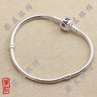 Wholesale 20 mm width cm cm length mix size for Pandora Silver Snake Bracelet New silver bracelets Snake chains DIY chain bracelet