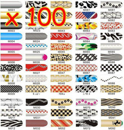 Wholesale Beauty Nail Art Sticker Patch Nail Decoration Tips Metallic Nail Foils nail arts sticker different style OF