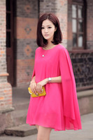 Wholesale New Arrival chiffon color solid Summer maternity dress short sleeve Clothing for pregnant clothes Woman
