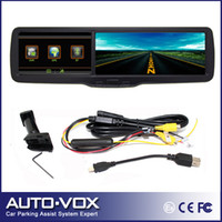 """1 channel 1.5 640x480 2013 New 4.3"""" inch TFT LCD Car dvr rear view rearview mirror monitor+GPS+ DVR+BT freeshipping"""