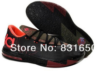 Unisex Summer Rubber kd vi meteorology black pink big Kids Basketball Athletic Sports Shoes euro size 36-40
