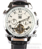 Auto Date automatic post - HK POST Automatic mechanical white dial Skeleton with diamonds casual men watches winner