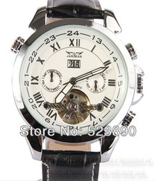 Wholesale HK POST Automatic mechanical white dial Skeleton with diamonds casual men watches winner