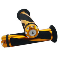 Wholesale Gold MOTORCYCLE ALUMINUM RUBBER HAND GRIPS FOR quot HANDLEBAR SPORTS BIKES
