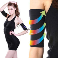 Wholesale 5pairs New Thin Arms Hands Shaper Burn Fat Belt Compression Arm Slimming Warmer D Drop shipping