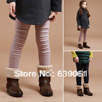 Jeans Girl Summer Winter Children's Clothing Female Plus Velvet Keep Warm Fashion Personality Boot Cut Jeans Baby Legging