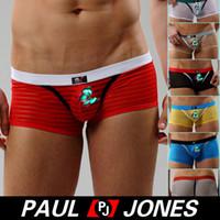 Cheap Men Stripe Boxer Best Nylon Boxers & Boy Shorts See-Through Boxer