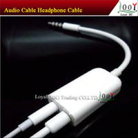 Wholesale 3 mm Male to Dual Female Jack Plug Earphone Audio Split Adapter Cable couples necessary gifts High Quality