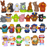 Wholesale 10pcs set New Little People PVC action Figure Dolls Toys Cute Cartoon Doll Figures for childrens gift christmas