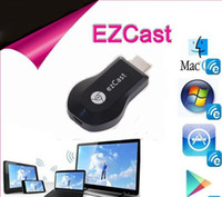 Wholesale iPush ezcast HDMI Multimedia AirPlay Wireless WiFi DLNA Display Dongle Receiver Sharing Multi Screen Interactive for Android iOS Tablet