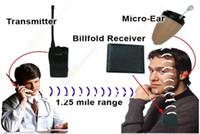 Wholesale Wireless Mini hidden Earpiece Walkie Talkie Wallet invisible mini wireless earpiece New