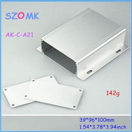 Wholesale 10 pieces a top sales powder coating aluminum box silvery mm inch aluminium enclosure box case
