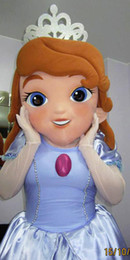Wholesale Professional Sofia the First Mascot Head Costume Halloween Christmas Birthday Props Costumes Outfit