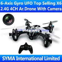 Wholesale 2 Ghz CH Axis GYRO Quadcopter Quadricopter with SPY Camera CAM UFO Good As Hubsan X4 H107C Parrot AR Drone RC Helicopter