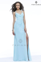 Reference Images Halter Chiffon 2014 Backless Prom Dresses Gathered ruched Chiffon featuring bead detail and romatic back draping Shown in Aqua Blue Graduation Gowns