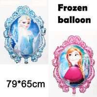 Wholesale 1405z free ship cm Mirror Frozen balloon for birthday party Princess frozen Elsa anna Aluminum foil cartoon helium balloons