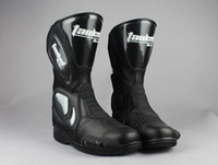 Wholesale MOTO Racing boots Tanked tank motorcycle boots sports car boots motorbike boots T05009 Off road racing shoe boots black color