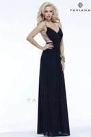 Wholesale 2014 Backless Prom Dresses Mesh with illusion straps Evening Gowns featuring floral decorative decals Shown in Dark Navy Graduation Gowns