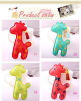 Wholesale 3D Lovely High Quality PU Keychain Keyring Key Ring Muilti Color Deer Design DHL