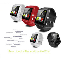 Wholesale U8 Pebble SmartWatch Bluetooth mobile Cell phone Smartphones Wrist Watch for iPhone S S Samsung S4 S5 Note Note2 HTC Android Phone