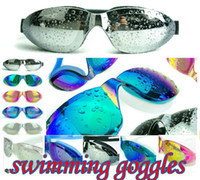 Wholesale Newest Designer plain glass waterproof casual seimming goggles high definit Adult Big box swimming goggles Electroplating goggles summer hot