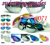 Wholesale Newest Designer plain glass waterproof casual seimming goggles high definit Adult very cruel goggles Electroplating goggles summer hot
