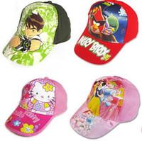 Cheap 2014 hot Cartoon snapback hats kids children princess baseball cap 5pcs lot free shipping