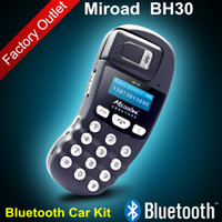 Wholesale New Arrival Miroad BH30 Wireless Car Bluetooth Hands free Speaker phone Bluetooth Car Kit With Car Charger for iPhone Samsung HTC Nokia