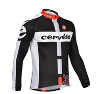Wholesale 2014 team CASTELLI CERVELO Long Sleeve cycling jersey cycling shirt Long sleeves Bike Tops