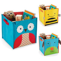 Wholesale New Arrival one piece Owl Dog Bee monkey and Beetle Design Children s toys folding storage box pouch