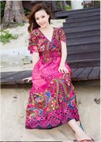 2014 New Fashion Dresses Bohemia long dress Exquisite printi...