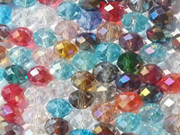 Wholesale x6mm Multicolor faceted Crystal Loose gemstone Bead