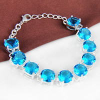 Wholesale high quality fashion blue topaz bracelet jewelry for party B0998