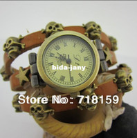 Wholesale Alibaba said the new punk skull leather strap watches ladies dress watch bracelet watch fashion watches best gift Relogio Hotel