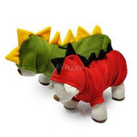 Wholesale New Dog Cat Dinosaur Coat Clothes Winter Jacket Halloween Costume Hooide Apparel Wx74
