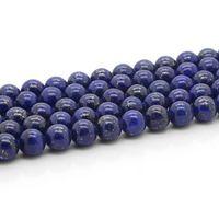 Wholesale New fashion Natural Lapis lazuli gem stone semi precious stone round bead strand for diy jewelry making accessories GB040