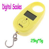Disposable Kitchen Scales Digital Freeshipping Mini Digital Hanging Luggage Fishing Weighing Scale 25kgx5g,10pcs lot,Dropshipping wholesale