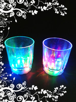 Wholesale 30pcs Colorful Led Party Light Flashing Shot Glass Led Plastic Luminous Cup Neon Cup Birthday Party Night Bar Wedding Beverage Wine L687