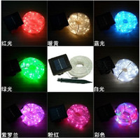 Wholesale Retail M RGB led Solar energy lamp tube light single color garden light Neon lights waterproof outdoor led lamp Free Ship