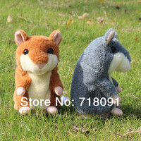 Brown mouse animal - 15CM PC New Arrival Pet Mouse Plush Animal Talking Toy Hamster Drop