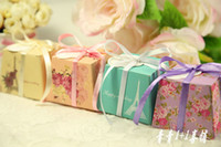Wholesale Super Cheap High Quality Latest Style Wedding Favors Wedding Candy Boxes Sash Wedding Favor Holder Bags