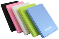 Black/blue/green/white/pink external hard drive - dropshipping Portable USB inch Hard Drive External Enclosure SATA Mobile HDD Case Box