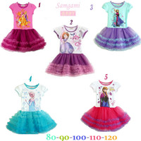 Wholesale Newest Frozen Girls Tutu dress Baby Summer Cartoon...