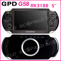Wholesale 5 inch GPD G58 Gamepad RK3188 Quad Core Android Game Console Tablet PC Handheld Console Joystick G RAM G ROM Android