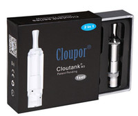 Replaceable   weed flower smoking eGo Cloupor Cloutank M3 Clearomizer Pyrex Glass Clear Vaporizer 2in1 Dry Herb Atomizer Wax Cartomizer for E Cigarette