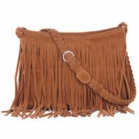 Clutch Bags Women Plain Hot sell tassel handbags cross-body bag shoulder bag women messenger bag bolsa vintage leather designer tassel bag HD258