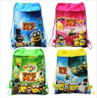 Wholesale New Frozen drawstring bags Anna Elsa peppa pig sofia Despicable Me backpacks handbags children s school bags kids shopping bags present
