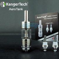 Replaceable 1.8ml Pyrex glass  2014 100% Original Kanger Aero tank Atomizer Kangertech Aerotank Clear Atomizer Adjustable Air Flow Bottom Coil Clearomizer